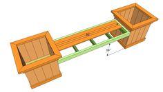 Installing the bench slats