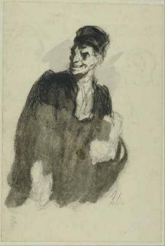 A Lawyer, Honoré Daumier, c. 1865 | Museum Boijmans Van Beuningen