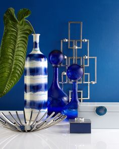 Mysterious and deep, a room of sapphire rouses ambition and creativity. Explore this color on zgallerie.com.