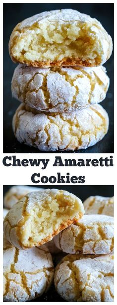 Gluten free cookies - Chewy Italian Amaretti cookies A quick and easy gluten free cookie thats perfect for the holidays amaretticookies italiancookies glutenfree glutenfreecookies meringuecookies Italian Cookie Recipes, Italian Cookies, Baking Recipes, Easy Italian Desserts, Quick Cookie Recipes, Italian Almond Biscuits, Italian Snacks, Bisquick Recipes, Italian Foods