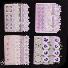 Pergamano Patrons dentelle de papier parchment Craft Adèle Miller modèle pattern 26