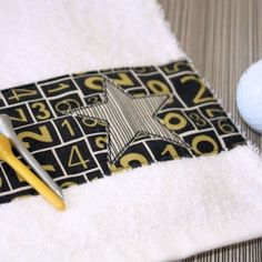 Make a handy Golf Towel that clips onto the buggy for your favorite Golfer!
