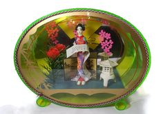 ♧Δ #Vintage Japanese Diorama - Mid Century Kitsch, Retro Asian Home Decor, 1950s http://etsy.me/2cYgtAf