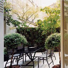 Un patio au style contemporain