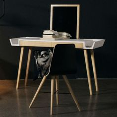 Casual Makeup Table And Desk In One | DigsDigs