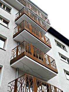 Cor-Ten-Stahl Balkon Photo by smgtreppen www.smg-treppen.de #wirdenkenmit