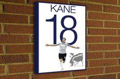 Harry Kane Canvas Print  Tottenham Hotspur F.C. #soccer #spurs #coys #art #canvas