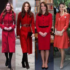 Quand la duchesse de Cambridge voit rouge