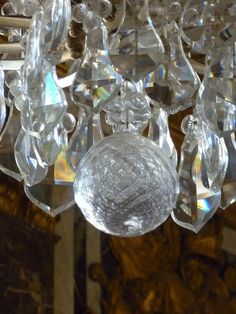 Detail from chandelier in Hall of Mirrors, Versailles