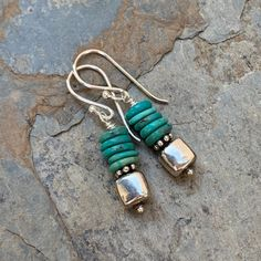 Jewelry Diy 2020 Turquoise and Sterling Silver Earrings inch. Jewelry Diy 2020 Turquoise and Sterling Silver Earrings inch Diy Jewelry Rings, Boho Jewelry, Jewelry Gifts, Beaded Jewelry, Jewelery, Jewelry Accessories, Handmade Jewelry, Jewelry Design, Etsy Handmade
