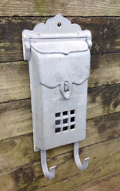 FREE SHIPPING..Vintage Cast Aluminum Wall Mail by ellansrelics02