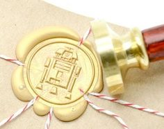 Star Wars R2-D2 Gold Plated Wax Seal Stamp x 1