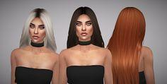 The Sims 4 Mody: Retekstury włosów Nightcrawler GUY od Aveline Sims...