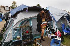 EUA: são sem-abrigo e as suas casas são tendas | P3