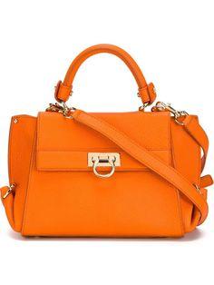 SALVATORE FERRAGAMO SOFIA TOTE SMALL ORANGE BAG  21D570 626989 #SalvatoreFerragamo #ShoulderBagTOTE