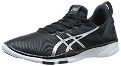 ASICS Womens Gel Fit Sana 2 Fitness Shoe BlackWhiteSilver 8 M US * Check this awesome product by going to the link at the image.