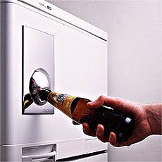 We all have magnets on our fridge, but most of them don't have half the utility of this one. The Bottle Opener / Fridge Magnet ($27) is a great-looking addition to your beer drinking arsenal, and comes in four different colors to match your kitchen's decor. The steps between you and your favorite brew just got shorter.