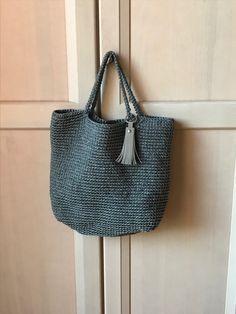 Crochet Tote, Tote Bag, Diy, Bags, Fashion, Handbags, Moda, Crochet Bags, Bricolage