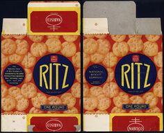 nabisco cracker boxes | Nabisco - Ritz crackers - One Pound box - 1936