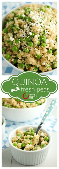 Quinoa with Fresh Peas | Super Healthy Kids | Food and Drink Nothing says springtime quite like peas. This quinoa with fresh peas recipe is just the side dish you need this season. It's light, tasty, and high in protein!
