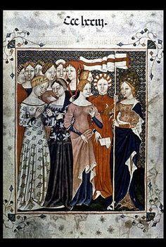 Bejís Medieval: El traje medieval femenino en el S. XIV