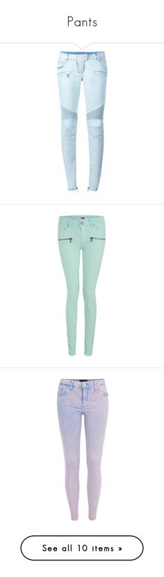 """Pants"" by samtiritilli ❤ liked on Polyvore featuring jeans, pants, bottoms, balmain, denim, bib overalls, blue jeans, bleached denim jeans, bleached jeans and glass"