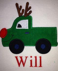 Christmas Truck Reindeer from happyapplique.com