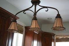 how to burlap light shades, great texture