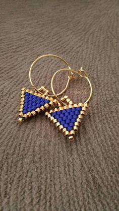 Seed Bead Jewelry, Bead Jewellery, Seed Bead Earrings, Diy Earrings, Hoop Earrings, Bullet Jewelry, Geek Jewelry, Gothic Jewelry, Jewelry Ideas