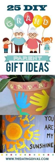 Grandparents Day Ideas - From The Dating Divas DIY thoughtful and easy gift ideas for Grandparents Day!DIY thoughtful and easy gift ideas for Grandparents Day! Christmas Presents For Grandparents, Grandparents Day Crafts, Presents For Grandma, Birthday Gifts For Grandma, Diy Christmas Presents, Grandparent Gifts, Homemade Christmas Gifts, Mothers Day Crafts, Homemade Gifts