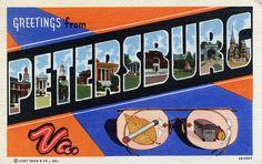 Greetings from Petersburg, Virginia - Large Letter Postcard, via Flickr.