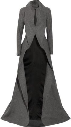 all star pics: ALEXANDER MCQUEEN ENGLAND Draping Wool and Cashmere-blend Coat