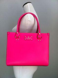 NWT Kate Spade Wellesley Quinn Leather Purse Handbag Pink Sapphire | eBay