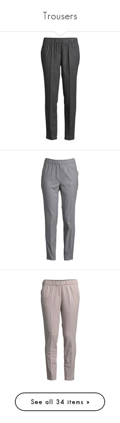 """Trousers"" by egorova-tatiana on Polyvore featuring pants, ankle zip pants, ankle zip jeans, jacquard pants, ankle zipper jeans, zipper pants, blue trousers, blue pants, brown trousers and side zipper pants"