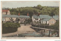 The Bridge, Helford, St Martin in Meneage, Cornwall, 1935 - Postcard
