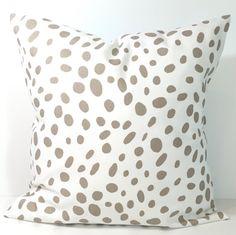 TAUPE PILLOWS, Pillow Cover, Decorative Pillow, Tan Pillow, Pillows, Animal Pillow, Neutral Pillow, All Sizes, Pillow Sham, Euro, Cushion