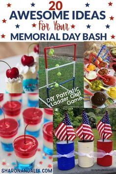 Memorial Day is right around the corner! Check out these 20 ideas you need for your best Memorial Day party ever. Ideas for food, drinks, desserts and games will add just the touch of awesomeness your party needs. Memorial Day Desserts, Memorial Day Celebrations, Memorial Day Foods, Diy Games, Party Games, Food Network, Cheddar, Hot Dog Bar, Party Drinks Alcohol