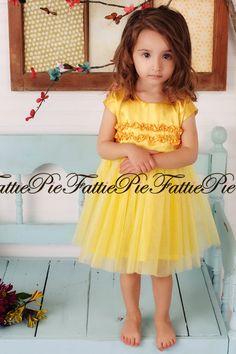 39 best sunflower themed flower girl dresses for michelles wedding yellow flower girl dress by fattiepie on etsy 11000 mightylinksfo