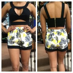 We love these new crop tops and printed silk tops!