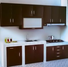 Meja bar di dapur rumah minimalis gambar 715 home for Desain kitchen set