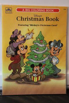 4 PIECE LOT DISNEY BOOKS COLORING MICKEYS CHRISTMAS CAROL XMAS HOLIDAY