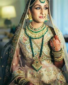 Gorgeous Beach Destination Wedding With A Sabyasachi Bride. Check out photos, ideas & stories shared by Bride & Groom. Indian Wedding Jewelry, Indian Bridal Wear, Indian Wedding Outfits, Indian Weddings, Bridal Outfits, Indian Jewelry, Eid Outfits, Indian Outfits, Indian Attire