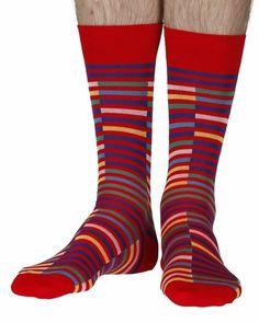 e52576201 Bahama men s cotton lisle dress socks in scarlet