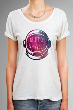 I need more space shirt, Astronaut helmet shirt with galaxy design, Astronaut Shirt, Astronaut Space TShirt, Science Shirt, Space lover gift