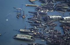 Aerial photo of Ship Graveyard, Richmond County, New York, NY  United States