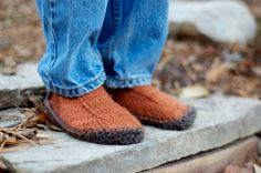 Simple Slippers Knitting Pattern