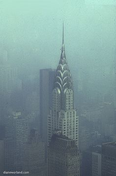 The Chrysler Building from The Empire State #nyc