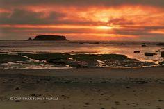 Otter Rock at Sunset  Christian Flores-Munoz