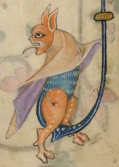 Detail from The Luttrell Psalter, British Library Add MS 42130 (medieval manuscript,1325-1340), f156v