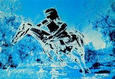 SIDNEY NOLAN, Lithograph, Kelly and Horse Sidney Nolan, Victoria Art, Ned Kelly, Documentary Film, Printmaking, Auction, Australia, Horses, Antiques
